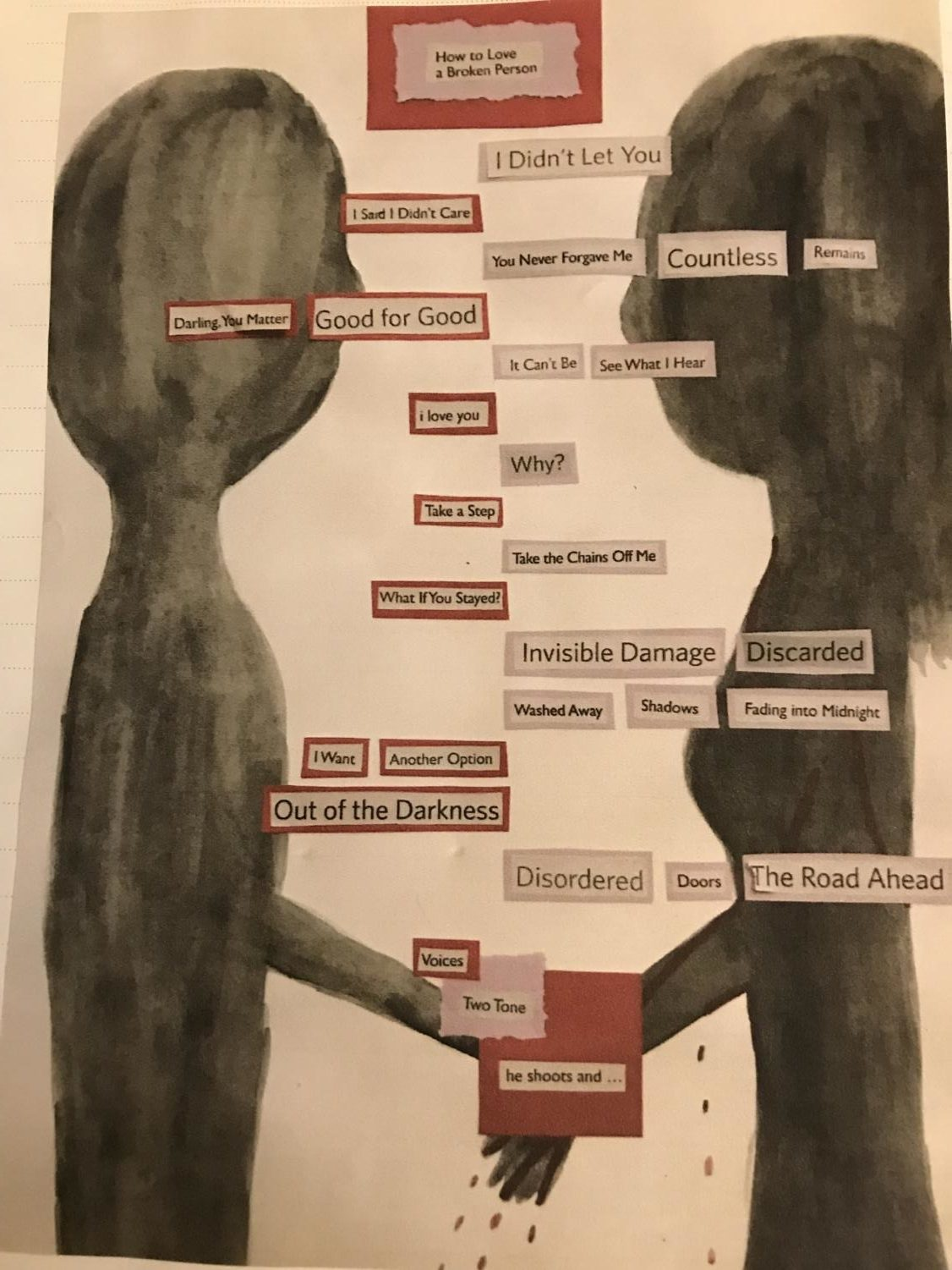 A student's poem created in Creative Writing