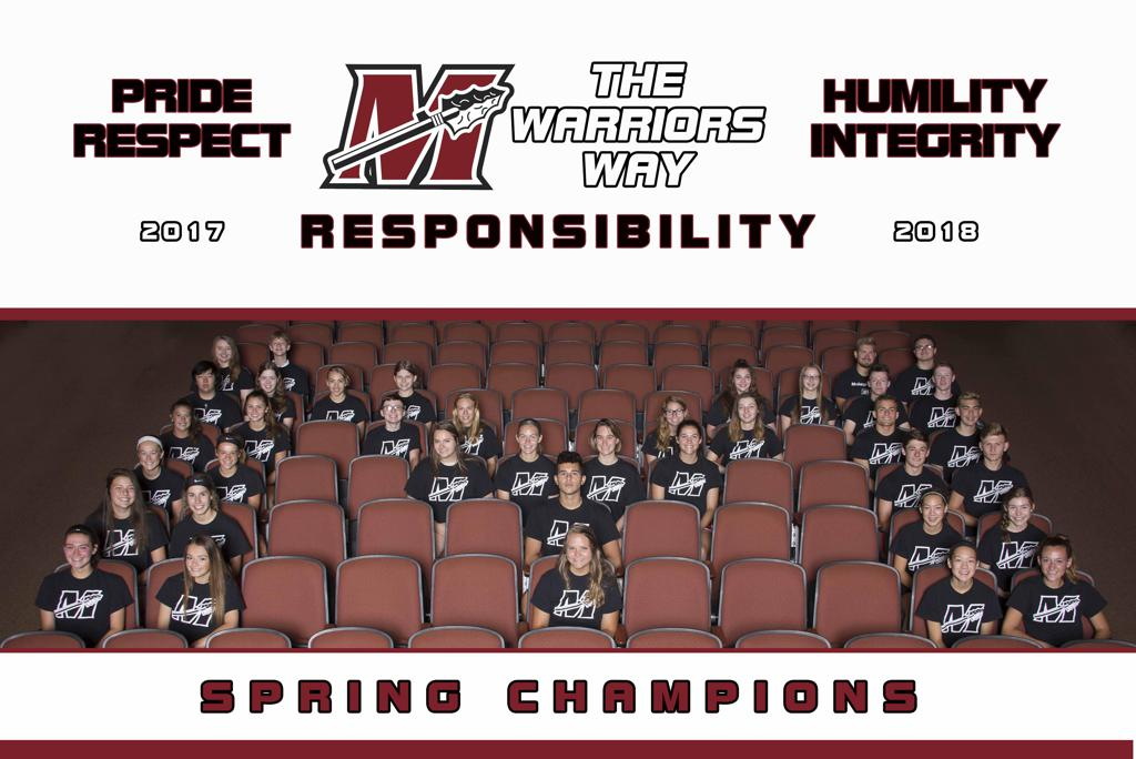 Muskego High School co-curricular 1 Warrior spring champions!